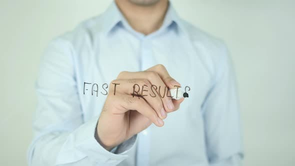 Cover Image for Fast Results�, Writing On Screen