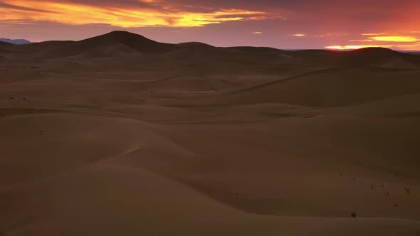 Thumbnail for Beatiful Landscape in Sahara Desert at Sunset