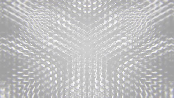 White Slow Waving Abstract Background