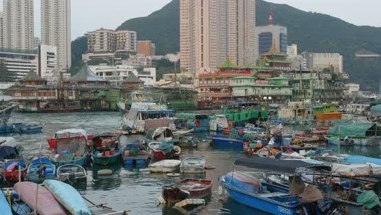 Thumbnail for Aberdeen, Hong Kong harbor port in aberdeen