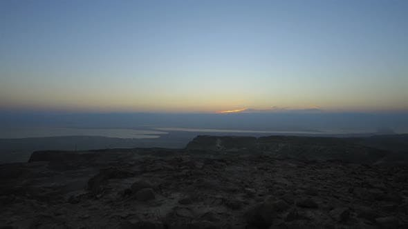 Thumbnail for Sunrise time-lapse at Masada