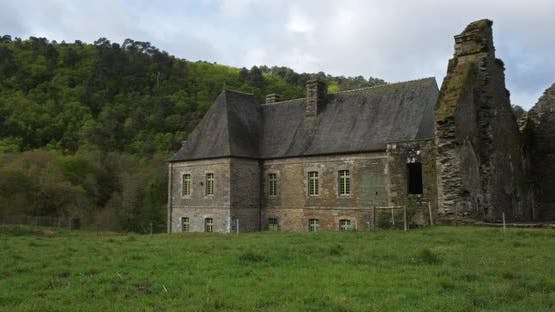 Abbey Notre-Dame de Bon-Repos, Bon repos sur Blavet, Cotes d Armor department, Brittany in France
