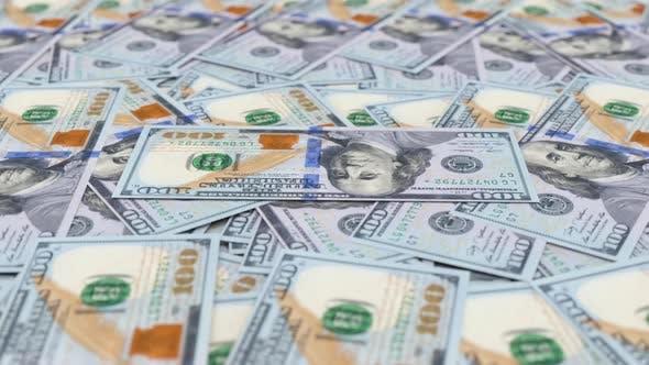 Thumbnail for Rotating New Hundred Dollar Banknotes 4K Looped