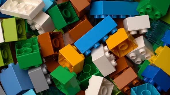 Thumbnail for Footage Motion Colorful Plastic Constructor Rotate Background Texture