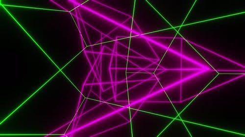 Dance Of Shimmering Neon Lines 4K