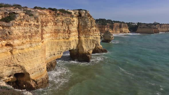 Thumbnail for Rock Cliffs and Waves in Algarve, Portugal