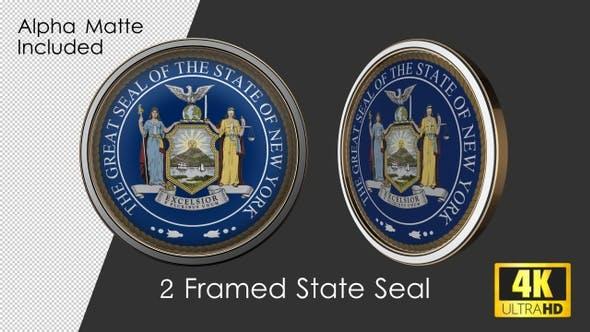 Framed Seal Of New York State