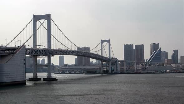 Thumbnail for Tokyo Rainbow Bridge Cityscape Waterway Traffic