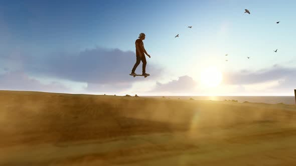 Thumbnail for Fliegender Skateboarder