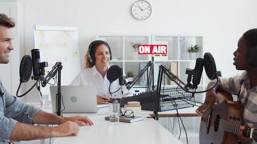 Talk in Broadcast Studio