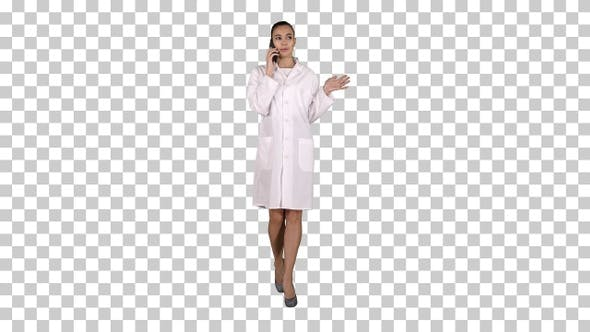 Thumbnail for Confident Female Doctor Healthcare Professional Talking On