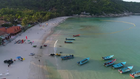 Thumbnail for Aerial View at Beach with Boats