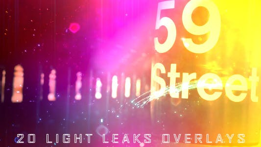 Thumbnail for 20 Light Leaks Overlays