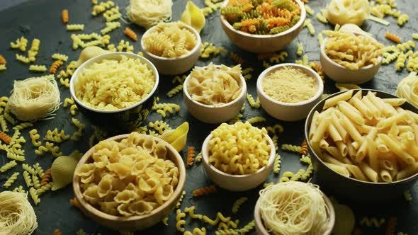 Thumbnail for Different Sorts of Macaroni in Bowls
