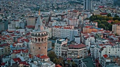 Galataturm in Istanbul, Türkei