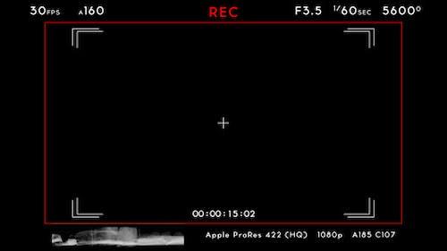Camera Recording Screen 02