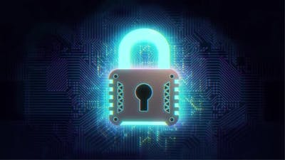 Creative Digital Data Security Concept with Lock