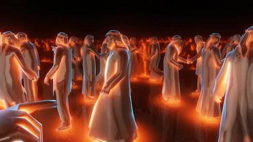 Silhouettes Of Arabic People Arabic Mans 4k