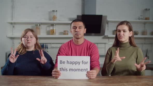 Thumbnail for Deaf People Showing Words on Sign Language Indoors