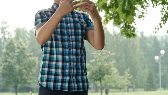 Thumbnail for Boy Throwing Football