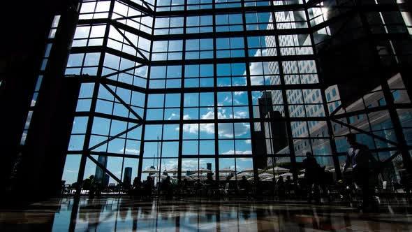 4k sky trough glass