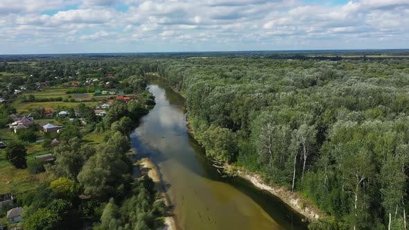 Thumbnail for Beautiful Landscape in Baturin with the Seym River in Chernihiv Region of Ukraine