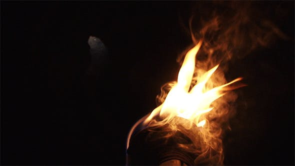 Thumbnail for Hand Held Torch in Darkness