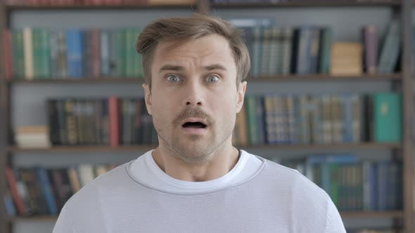 Thumbnail for Portrait of Wondering Adult Man in Shock