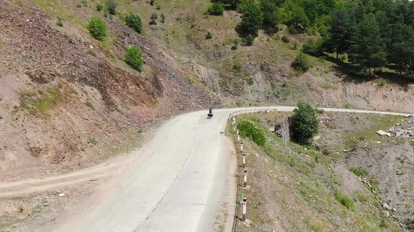 Thumbnail for Bicycle Touring On Asphalt Road In Nature