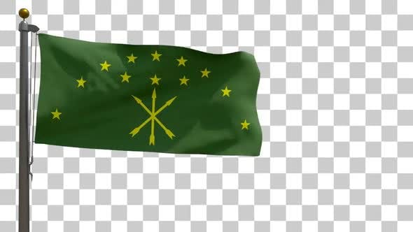 Thumbnail for Adygea Flag on Flagpole with Alpha Channel
