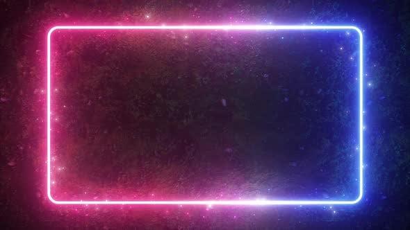 Thumbnail for Rectangular Neon Shimmering Luminous Shape