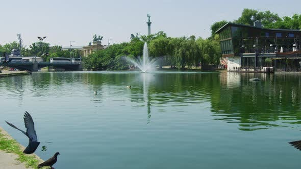 Cover Image for Lake with a fountain