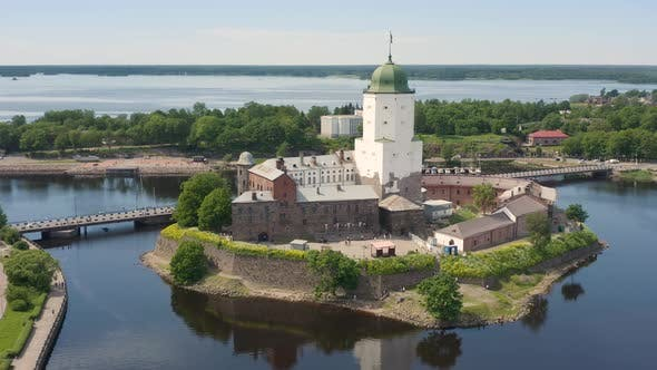 Aerial View of Vyborg Castle