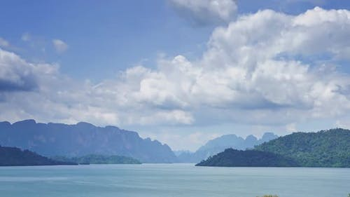 Cheow Lan Lake in Southern Thailand