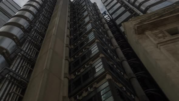 Pov Driving Timelapse London City Skyline Skyscrapers Urban