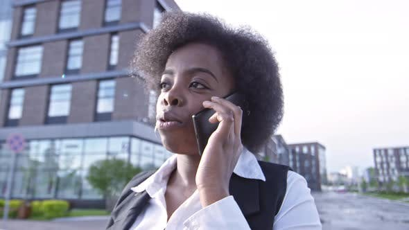 Cover Image for African Businesswoman Talking on Smart Phone