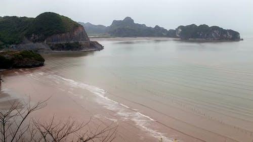 Landscape of Cat Ba Island, Ha Long Bay, Vietnam Timelapse