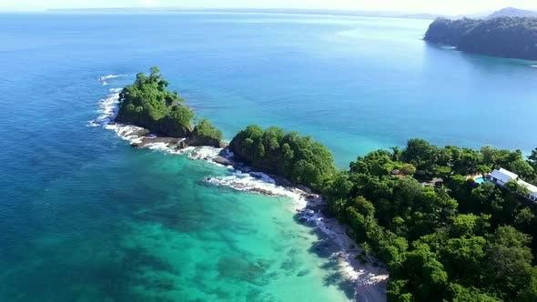 Thumbnail for Virgin Unspoiled Caribbean Tropical White Sandy Beach Aerial Drone View