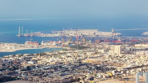 Dubai Docks time-lapse UAE