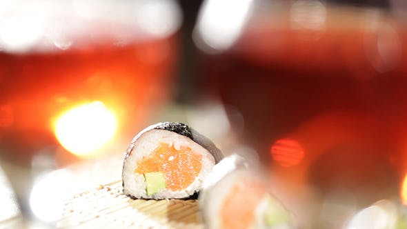 Thumbnail for Sushi Rolls And Plum Wine