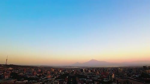 Yerevan City Panorama Time Lapse