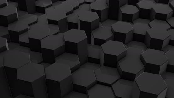 Thumbnail for Abstract Black Hexagon Honeycomb Background