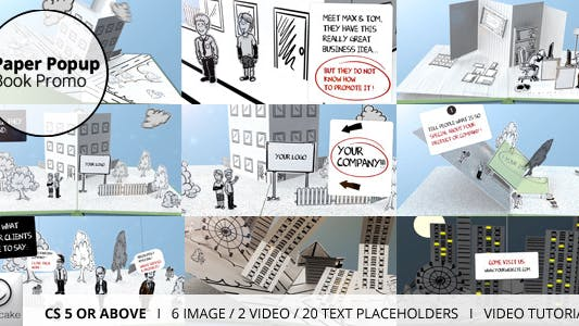 Thumbnail for Paper Popup Book Promo