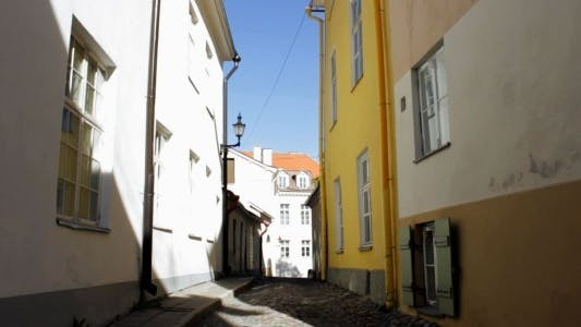 Thumbnail for View of Narrow Medieval Street