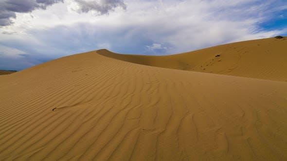 Thumbnail for Thunderstorm in the Desert. Dramatic Sky Over Sand Dune. Timelapse.