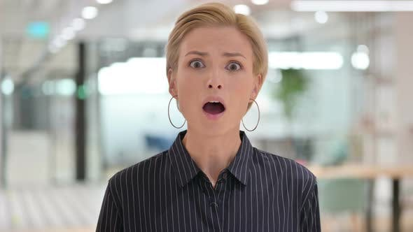 Thumbnail for Young Businesswoman Feeling Shocked, Expression