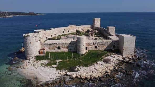 Medieval Castle Aerial Drone