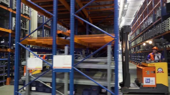 Thumbnail for Warehouse in a factory with technical goods