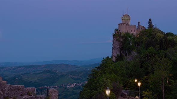 Thumbnail for Time lapse of the amazing hilltop fortresses on Monte Titano in San Marino