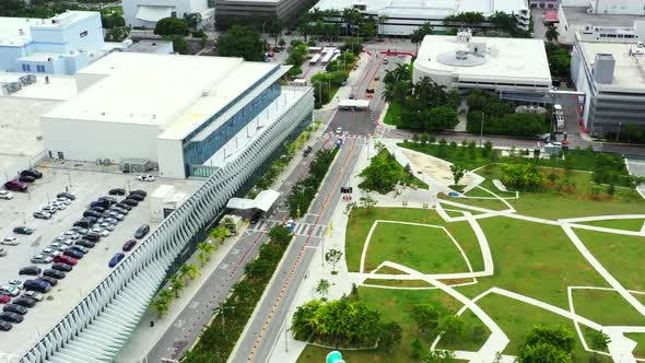 Aerial Coverage Video Miami Beach Coronavirus Covid 19 Testing Facility